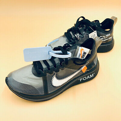 """Sneakers trasparente Off-White x Nike Zoom Fly SP """"Black"""" EU 36 US 4 NUOVE"""