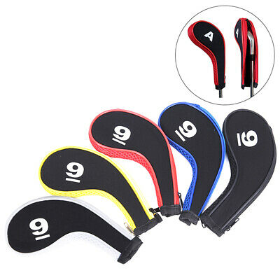 10PCS Golf Club Head Cover Iron Putter Headcover Protect Set Number Printed FB