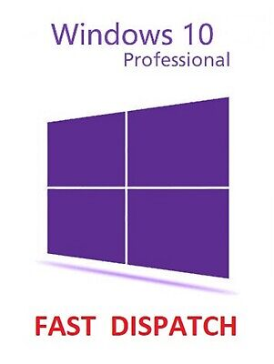 Microsoft Windows 10 Pro Professional 32/64bit Genuine Licence Key Product Code