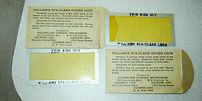VTG William's Sta-Clear Cover Lens-for OLD WELDING HOOD-New Old Stock