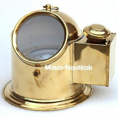 Brass Vintage Binnacle Compass Marine Collectible Helmet Compass  Nautical Decor
