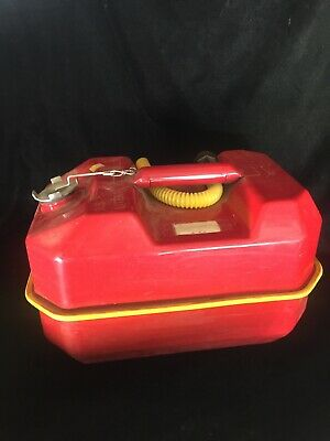 BLITZ USMC 9.5L 2.5 Gallon DOT Red Gas Fuel Can Metal Steel Gas Tank 1984 Spout