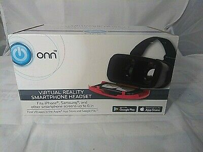 New ONN Virtual Reality Headset Fits Samsung Smart Phone iPhone To 6 Inches