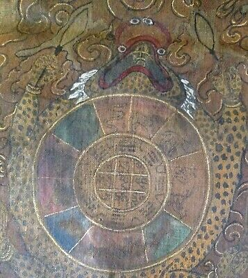 """RARE!!! BHUTAN !! THANGKA PAINTING OVER 90 YEARS OLD. SIZE: 18""""x12"""""""