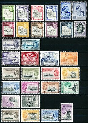 Falkland Islands Dependencies Collection of 32 Stamps - 1946 to 1956 - MH