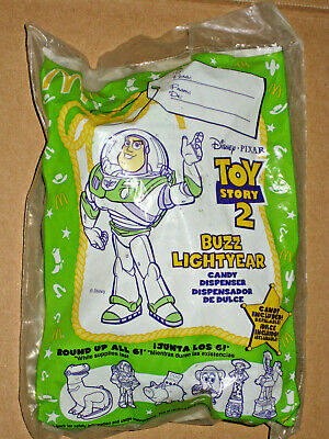 1999 Toy Story 2 Mcdonalds Happy Meal Buzz Lightyear With Candy New In Package