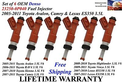 Genuine FUEL INJECTORS LEXUS TOYOTA CAMRY 3.3 V6 Shipped Today Priority Mail