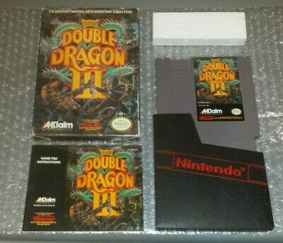 Double Dragon III: The Sacred Stones NES Complete With Box & Manual Very Good