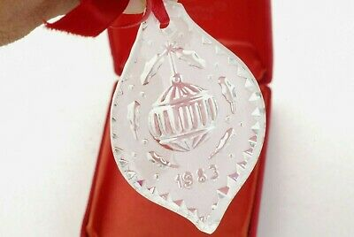 Vintage Waterford Crystal Annual Christmas Ornament!  Ornament  1983!