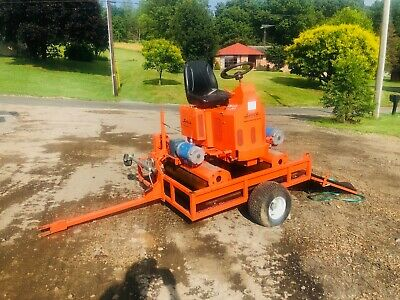 Salsco 9074 Greens Yard Roller Articulating Golf Course W/ Transport Trailer