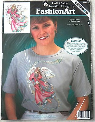 Dimensions Full Colour Iron-On Design By Fashion Art #80331 Graceful Angel