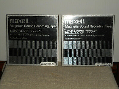 Vintage MAXELL E35-7 Low Noise Reel to Reel Professional Recording Tape 2 Sealed