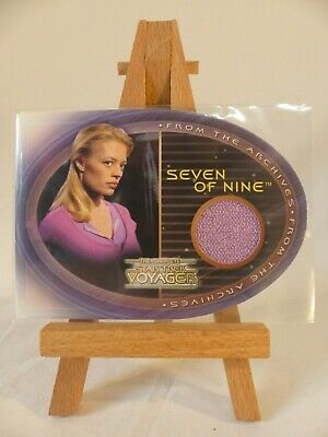 Jeri Ryan as Seven of Nine Complete STAR TREK Voyager Costume Wardrobe Card #CC1