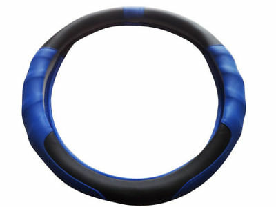 Cosmos Preci Universal Fit Pvc Blue & Black Car Steering Wheel Cover 82153