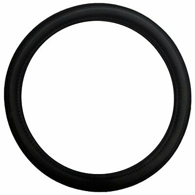 Sakura Harrow Leather Look Universal Fit Black Car Steering Wheel Cover Ss5316