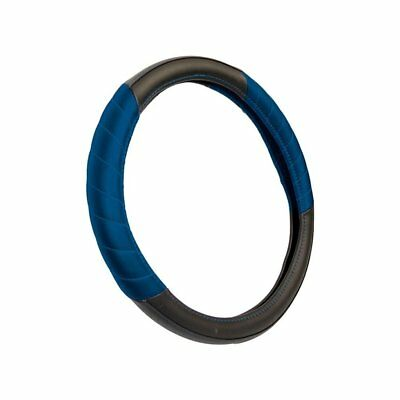 Cosmos Active Universal Blue & Black Car Steering Wheel Cover 82421