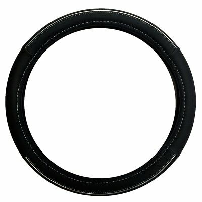 Sakura Piccadillly Eather Look Universal Fit Black Steering Wheel Cover Ss5318