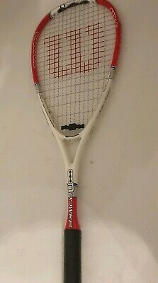 Wilson Ncode NPower Squash Racket unused no wear excellent quality red white