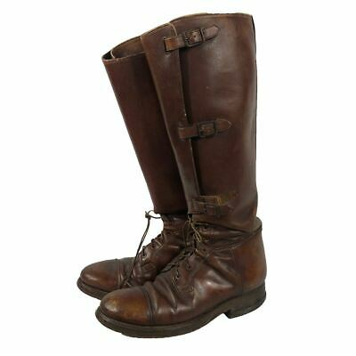 US Army Triple Buckle Cavalry Tanker Calf Boots C1930