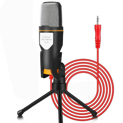 3.5 mm Jack Condenser Recording Microphone with Mic Stand for  PC Laptop