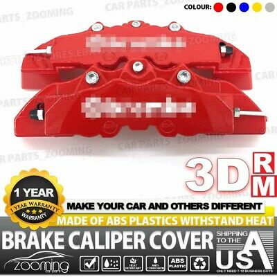 2x 240mm Red 3D Style Brake Caliper Covers Universal Car Disc Front and Rear Kit