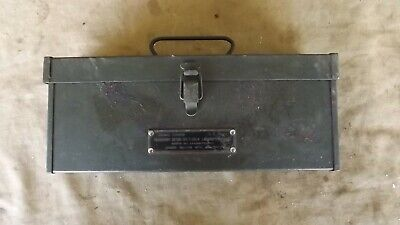 WW2 1943 US Army Signal Corps Frequency Meter Set I-129-B (Absorption Type)