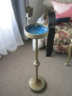Antique Art Nouveau Beldray Brass Smokers Stand & Match Holder Made in England