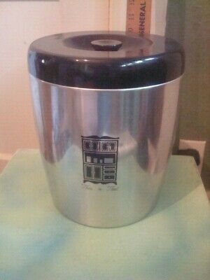 VINTAGE WEST BEND ALUMINUM This n That CANISTER WITH LID