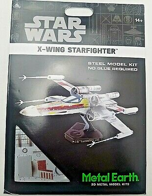 Disney Parks Star Wars X Wing Starfighter Steel Metal Earth Color 3D Model Kit