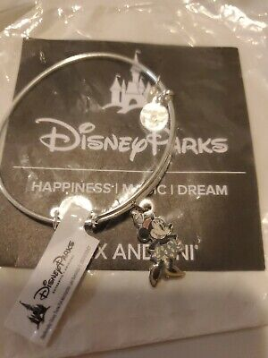 Disney Parks Alex and Ani Minnie Mouse Silver Bangle Bracelet Classic Silhouette