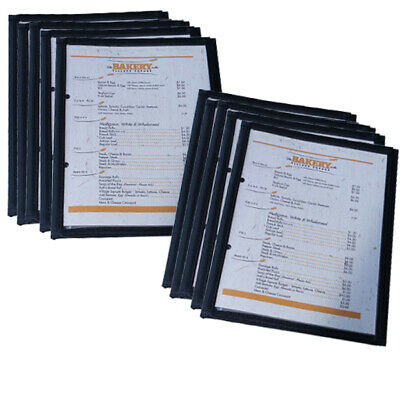 Pack 10 A5 CAFE MENU FOLDERS WITH 2 PAGES