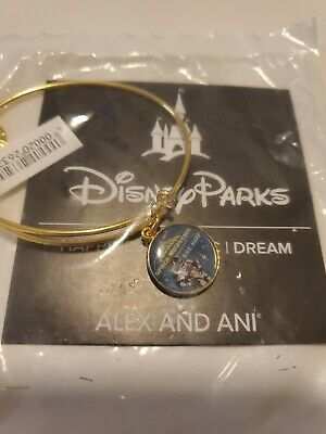 Alex and Ani Disney Space Mountain 40th Anniversary Collectible Bangle Gold