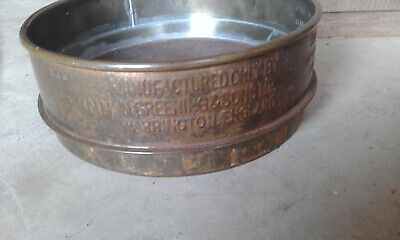 rare collectable vintage laboratory seive greening and sons brass test sieve lab
