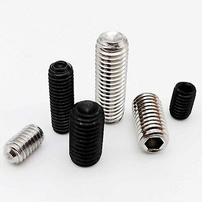 10/50pc M2-M8 DIN916 Hex Hexagon Socket Allen Head Cup Point Grub Screw Set Bolt