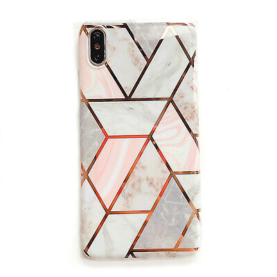Geometric Marble Case  for Samsung Galaxy S8 S9 Plus S10 S10e Charm Pastel Cover