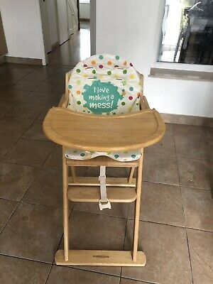 Mothercare foldable Wooden Highchair Used.