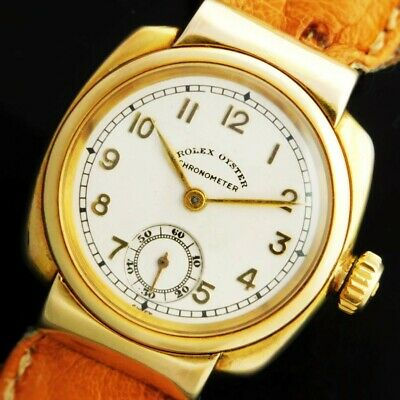 ROLEX OYSTER CHRONOMETER CUSHION 9K Solid Gold Ref.9578/Cal.700 around 1930
