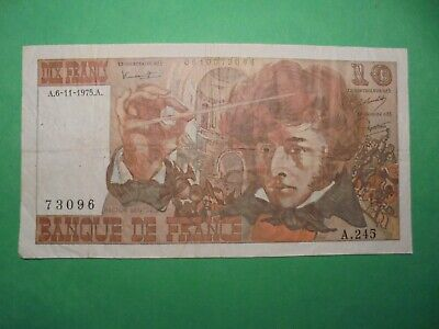 French 10 Francs 1975 Banknote.