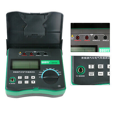 DY4106 Micro Milliohm Meter Low Resistance Tester With Temperature Sensor Test