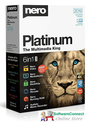 Nero 2019 Platinum 4K Ultra HD Multimedia Suite for Windows - 6 Programs in one!