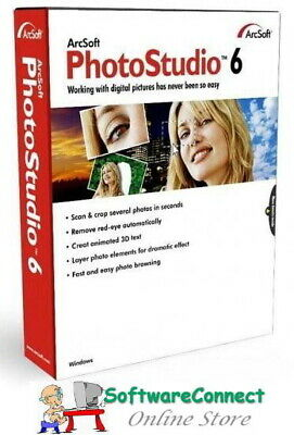 ArcSoft PhotoStudio 6 Photo Studio Full Retail New & Sealed Genuine GUARANTEE