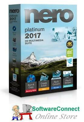 Nero 2017 Platinum 4K Ultra HD Multimedia Suite for Windows - Full Version