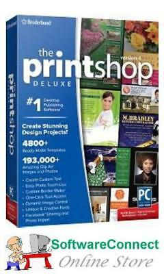 Broderbund PrintShop 4 Deluxe Print Shop GENUINE GUARANTEE
