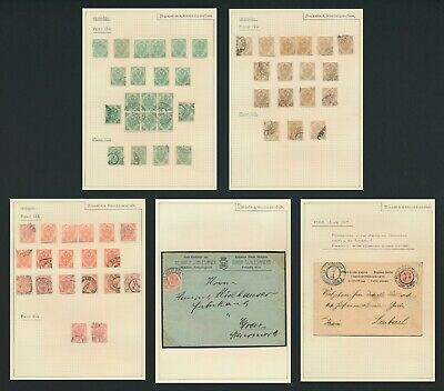 BOSNIA & HERZEGOVINA STAMPS 1900 ISSUE 5k, 6k, 10k, 5 PAGES, INC 2 COVERS VF LOT
