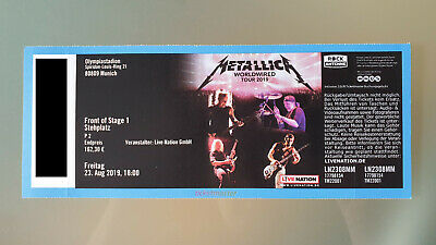Metallica - WorldWired Tour 2019 in München - FOS 1 - Front of Stage 1 - Top!