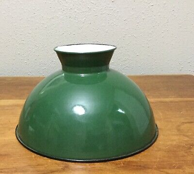 Antique Vintage Original Coleman 334 Oil Green Enamel Steel Gas Lamp Shade