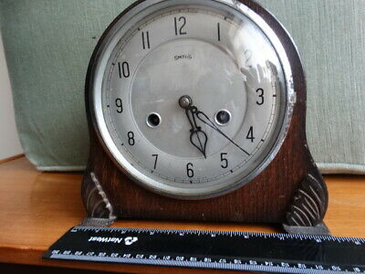 Smiths Enfield Chiming Mantle Clock 1930.s Vintage Clock