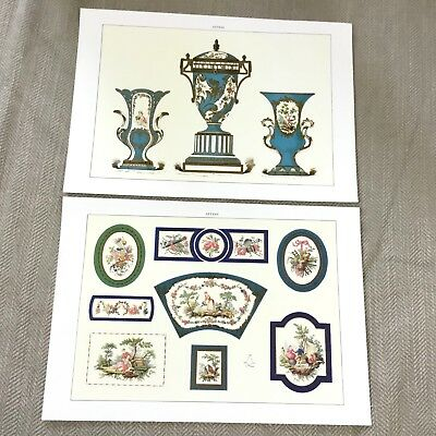 Antique Sevres Porcelain Clock China Plaques Edouard Garnier Colour Litho Prints