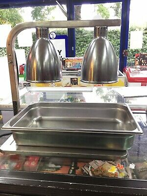 Used Infrared Food Warmer Lamp  With Tray In Perfect Condition