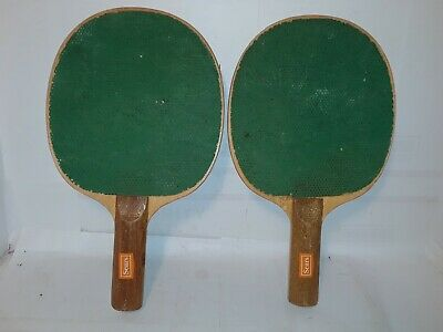 Peachy Rare Nice Vintage Sears Ping Pong Paddles Green Paddles Table Tennis Home Remodeling Inspirations Propsscottssportslandcom